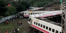 Train derailment kills at least 17 in Taiwan