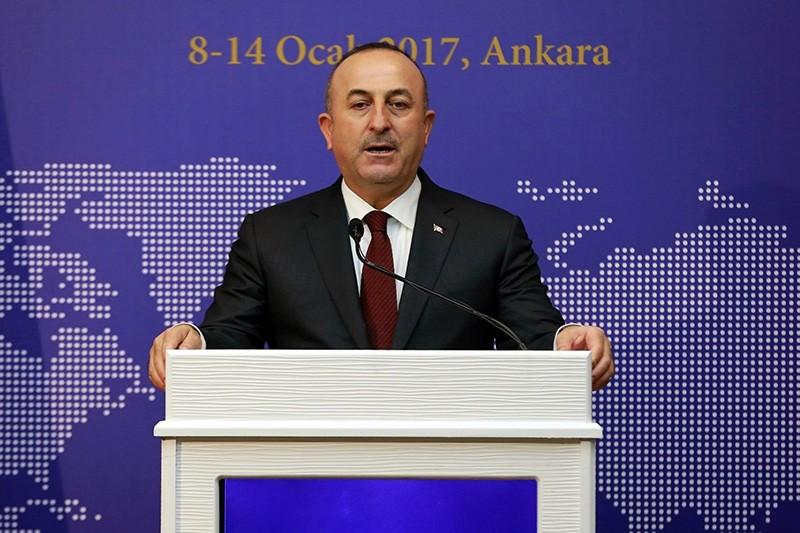 Foreign Minister Mevlu00fct u00c7avuu015fou011flu (AFP Photo)
