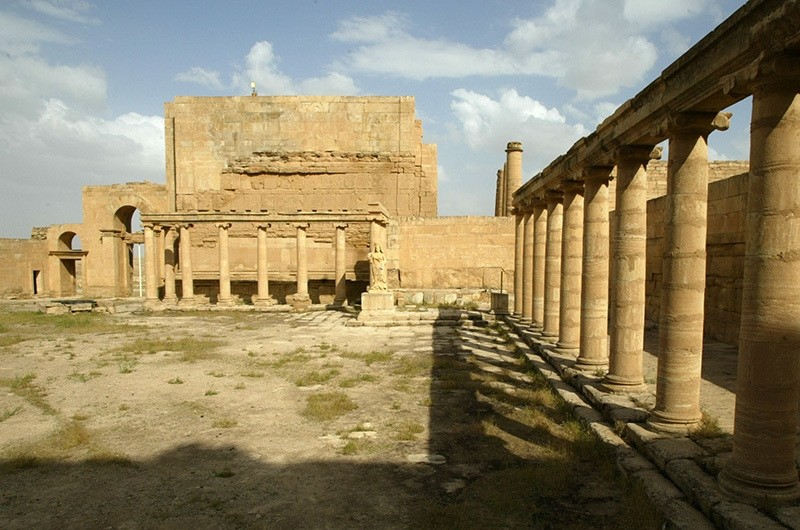 This file photo taken on April 21, 2003 shows the court of the royal palace in the ancient city of Hatra in the desert area in northwest Iraq between Mosul and Samarra (AFP Photo)