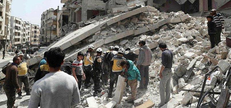 RUSSIAN AIR STRIKES KILL 10 CIVILIANS IN SYRIAS IDLIB: MONITOR