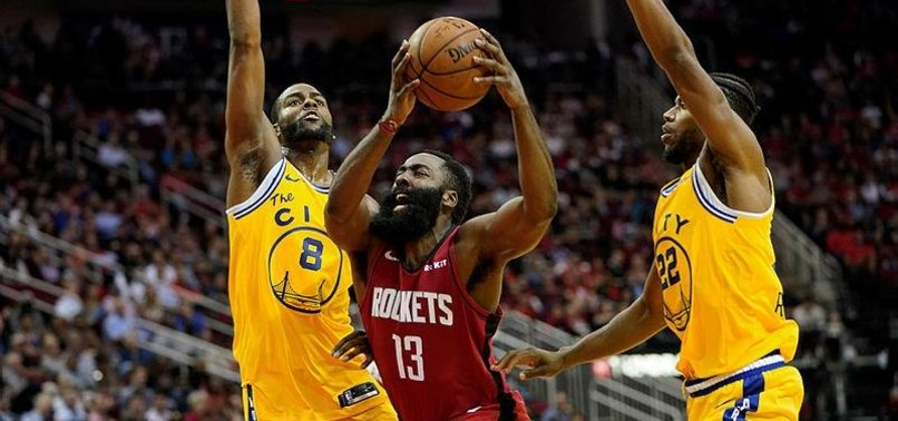 HARDEN SCORES 36 AS ROCKETS ROLL PAST WARRIORS