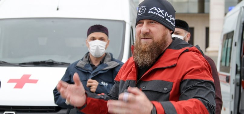 CHECHEN STRONGMAN REAPPEARS DAYS AFTER REPORTED VIRUS ILLNESS