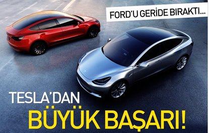 Tesla, ABD'nin en değerli ikinci otomobil üreticisi oldu