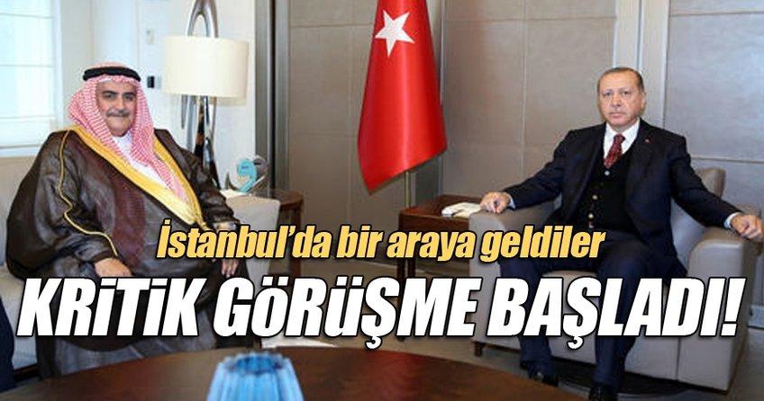 Cumhurbaşkanı Erdoğan'ın, Al Halife'yi kabulü başladı