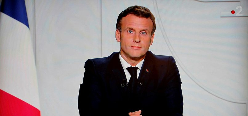 MACRON ANNOUNCES NEW VIRUS LOCKDOWN FOR FRANCE