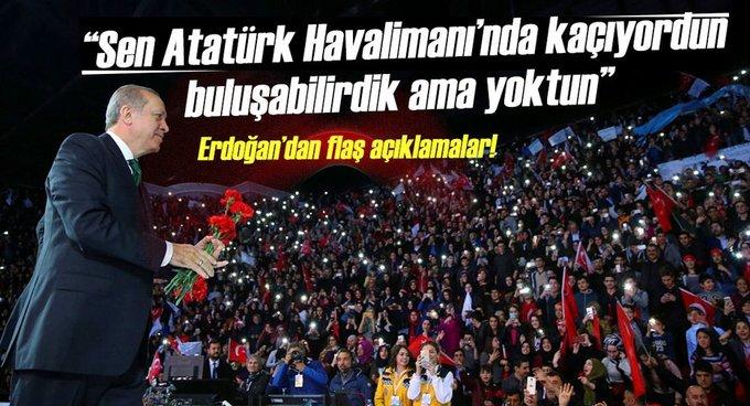 Cumhurbaşkanı Erdoğan: Kılıçdaroğlu sen neredeydin?
