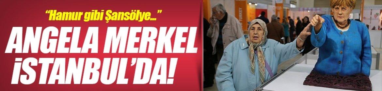 İstanbulda Trump ve Merkel heykeli