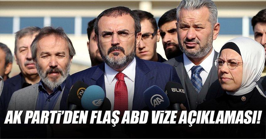 AK Parti'den flaş ABD vize açıklaması!