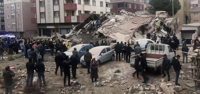 Building Collapse In Istanbuls Kartal District Leaves 3 People Dead
