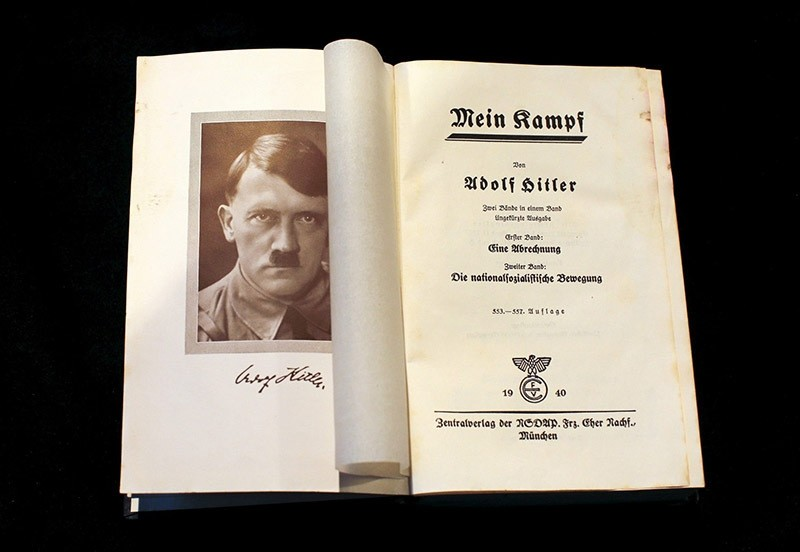 A copy of Adolf Hitler's book ,Mein Kampf, (My Struggle) from 1940 is pictured in Berlin, Germany on Dec. 16, 2015. (Reuters Photo)