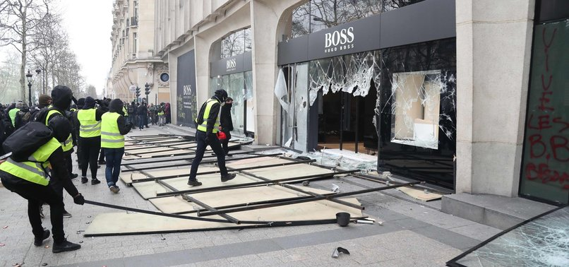 STORES ON CHAMPS-ELYSEES AVENUE IN PARIS LOOTED IN YELLOW VEST RIOTS