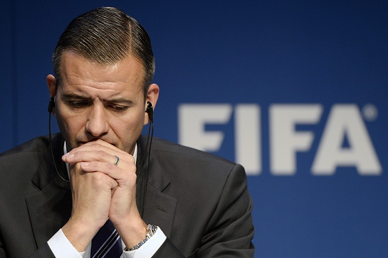 A file picture dated 03 December 2015 of Markus Kattner, FIFA acting Secretary General, during a press conference at the FIFA Headquarters 'Home of FIFA' in Zurich, Switzerland. (EPA Photo)