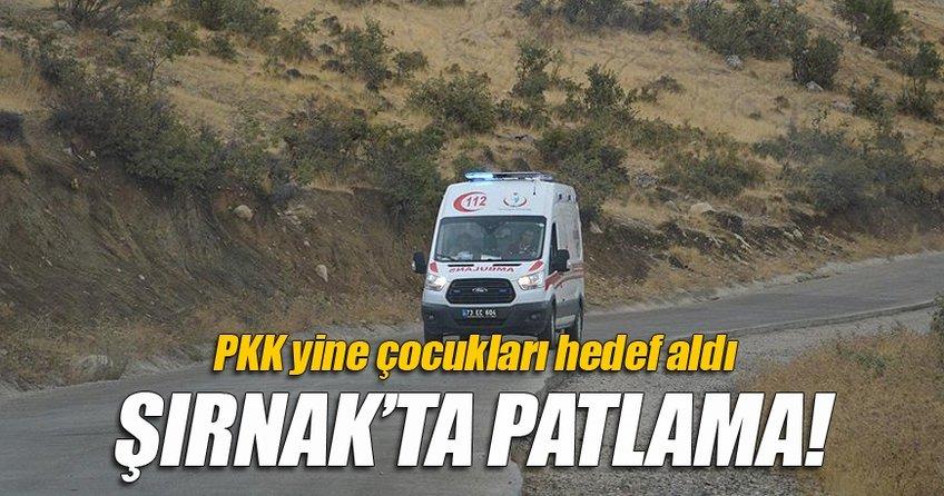 Şırnak'ta patlama: 2 çocuk öldü, 4 çocuk yaralı