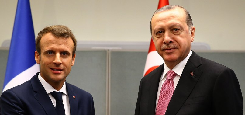 TURKISH PRESIDENT ERDOĞAN BRIEFS FRANCES MACRON ON AIMS OF TURKEYS OPERATION PEACE SPRING