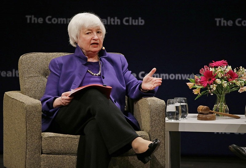 Federal Reserve Board Chair Janet Yellen answers questions during a meeting of the Commonwealth Club Wednesday, Jan. 18, 2017, in San Francisco. (AP Photo)