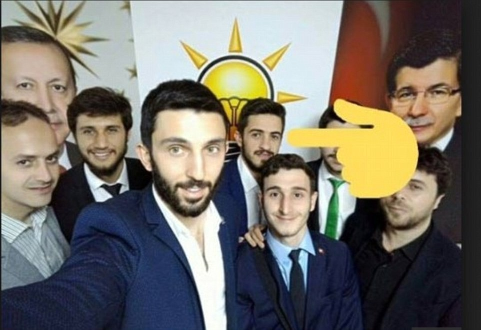 The photo circulated in social media circles right after Russian Ambassador Karlov's murder shows 23-year-old student Ahmet u00c7etin, in an event by AK Party, marked in an amateur way as the suspect.