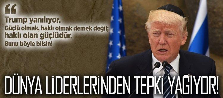 Trumpın kararına dünya liderlerinden tepki