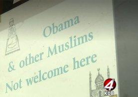 ABD'de İslam karşıtı ırkçı tabela tepki çekti