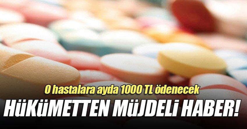 O hastalara ayda 1000 TL