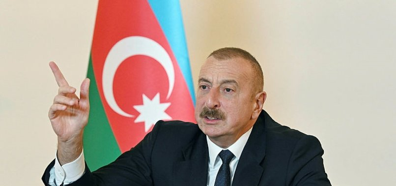 ILHAM ALIYEV: AZERBAIJAN RAISES FLAG ON HISTORIC BRIDGE