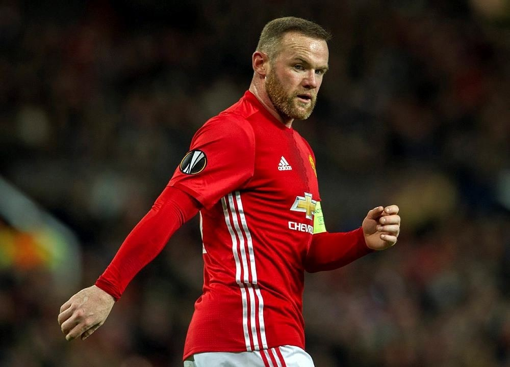 Manchester United's Wayne Rooney reacts during a UEFA Europa League group A soccer match between Manchester United and Feyenoord held at Old Trafford, Manchester, Britain on the 24 November 2016. (EPA Photo)