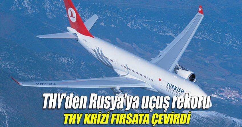 THY'den Moskova'ya uçuş rekoru