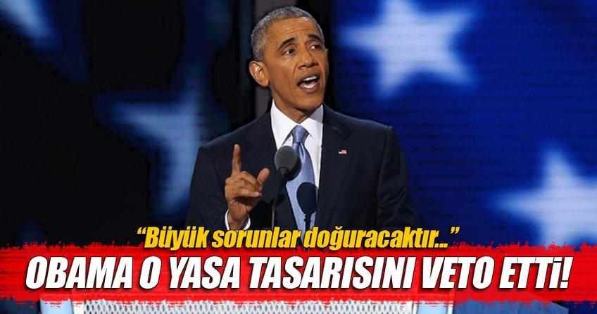 Obama'dan Suudi Arabistan'ı suçlayan tasarıya veto