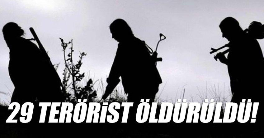29 terörist öldürüldü!