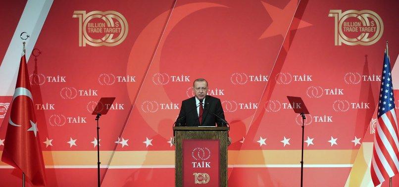 TURKEY EXPECTS US TO EXEMPT IT FROM FUTURE TARIFFS, ERDOĞAN SAYS