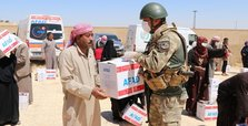 Turkey's AFAD distributes food aid in northern Syria