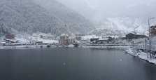 Uzungöl covered in snow fascinates visitors