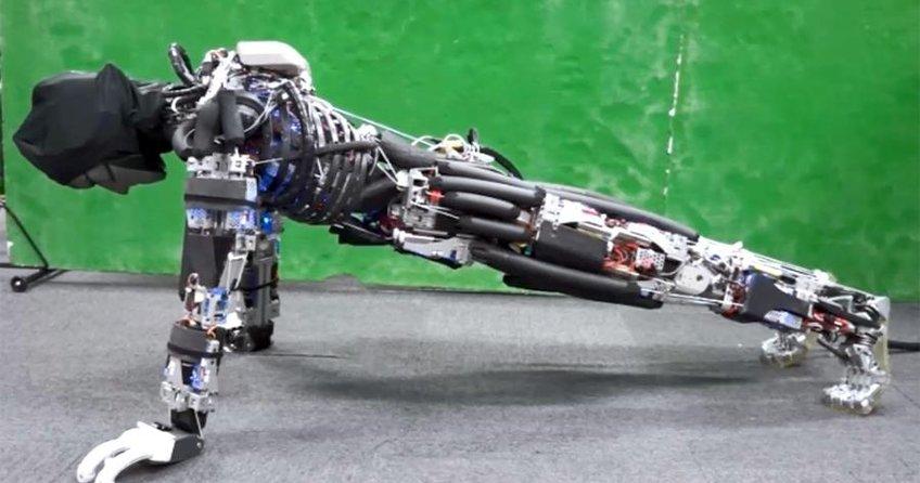 Spor yaptıkça terleyen robot