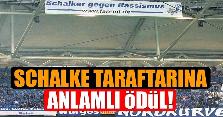 Schalke taraftarı anlamlı ödül aldı