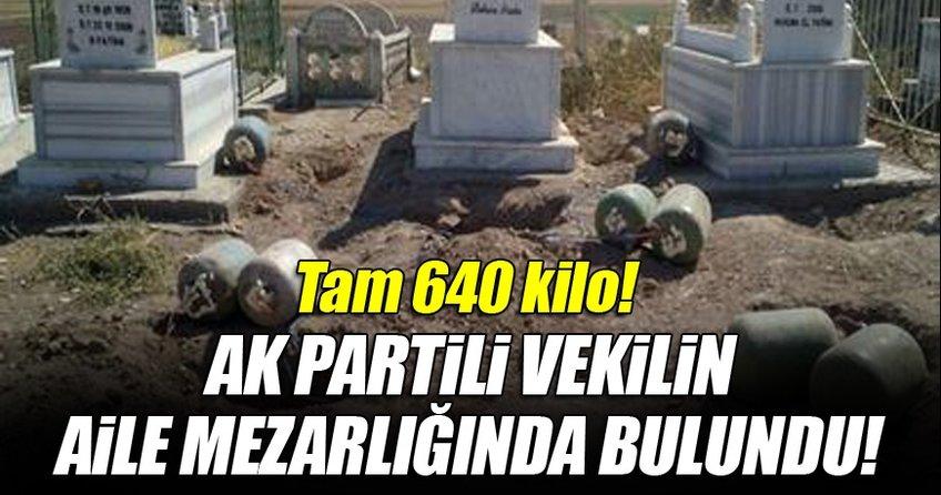 Eker'in aile mezarlığında 640 kilo bomba bulundu