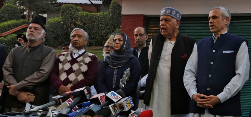 LEADERS OF KASHMIRI POLITICAL PARTIES VOW TO REGAIN SPECIAL STATUS