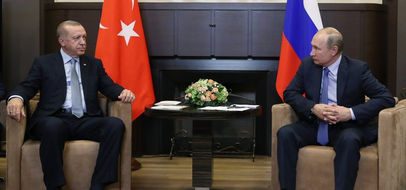 ERDOĞAN DISCUSSES DEVELOPMENTS IN NE SYRIA, BILATERAL RELATIONS WITH PUTIN IN PHONE CALL