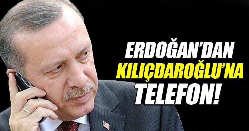 Erdoğan'dan Kılıçdaroğlu'na geçmiş olsun telefonu.