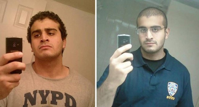 A combination of two undated photos from a social media accounts of show Orlando mass shooting attacker Omar Mateen. (Sabah Photo)