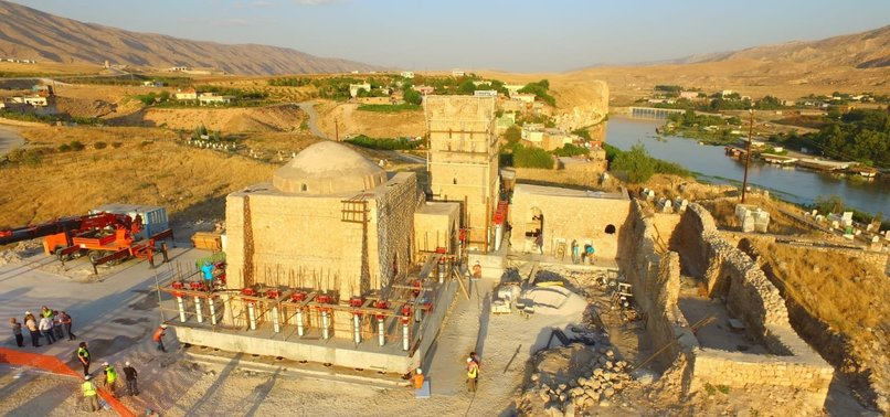 ANCIENT ISLAMIC MONASTERY MOVED TO NEW SITE