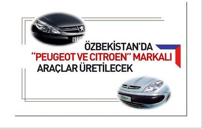 Özbekistanda Peugeot ve Citroen markalı araçlar üretilecek
