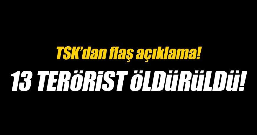 Avaşin Basyan'da 13 terörist etkisiz hale getirildi