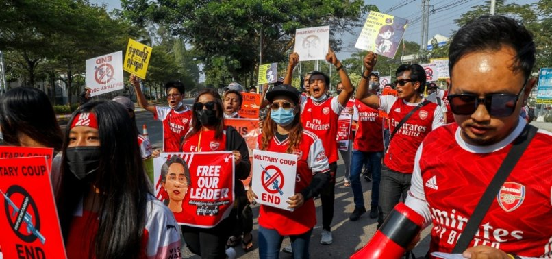 MYANMAR ANTI-COUP PROTESTERS ATTACK MORE CELL TOWERS