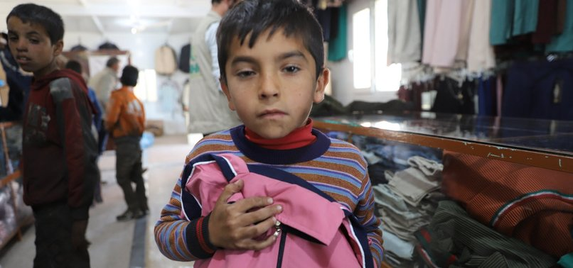 TURKISH AID BODY IHH HANDS OUT GIFTS IN SYRIA TO CELEBRATE WORLD CHILDRENS DAY