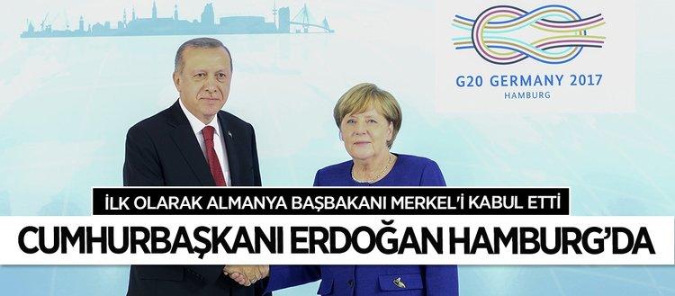 G20 Zirvesinde ilk temas Şansölye Merkel ile