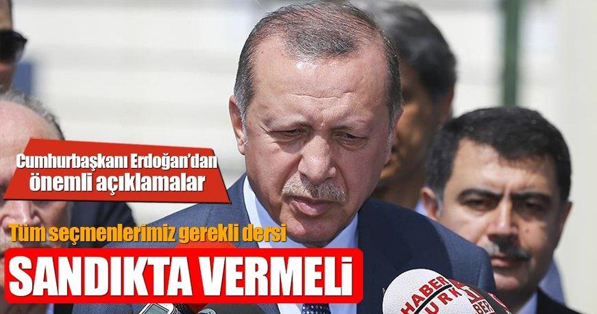 Cumhurbaşkanı Erdoğan Cuma namazı çıkışında soruları cevapladı!