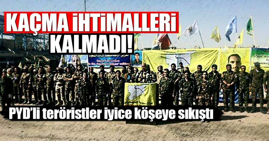PYD'li teröristler iyice köşeye sıkıştı!