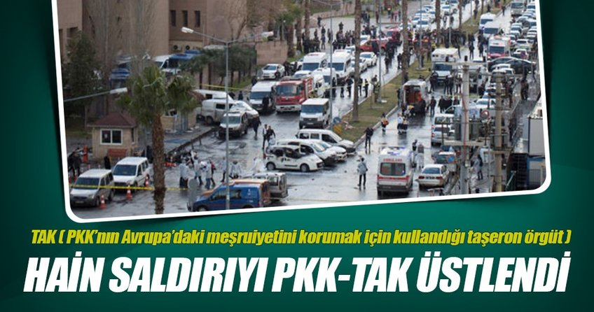 İzmirdeki terör saldırısını PKK-TAK üstlendi
