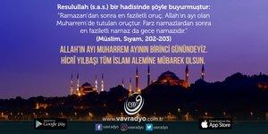 Hicrî Yılbaşı Tüm İslam Alemine Mübarek Olsun