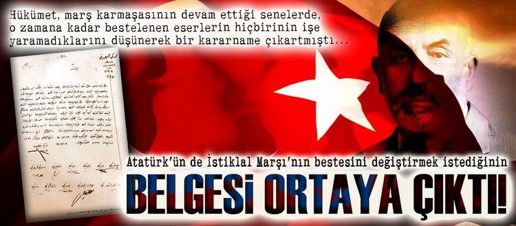 Atatürk de besteyi değiştirmek istemiş!