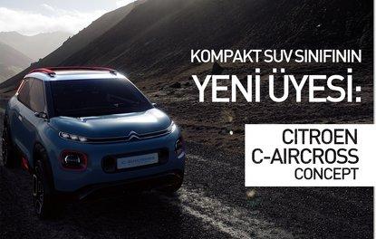 Kompakt SUV sınıfının yeni üyesi: Citroen C-Aircross Concept